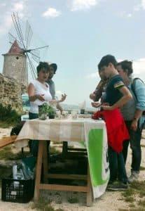 Laboratorio di germinazione di Calendula maritima in occasione della festa delle Oasi WWF